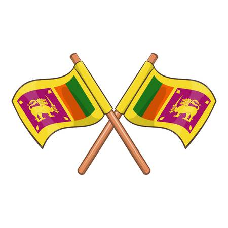 Sri lanka flag icon. Cartoon illustration of sri lanka flag vector icon for web