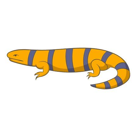 Yellow lizard icon. Cartoon illustration of yellow lizard vector icon for web Illustration