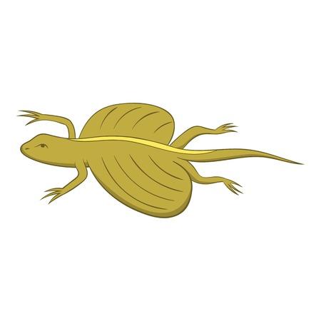 Flying dragon lizard icon. Cartoon illustration of flying dragon lizard vector icon for web