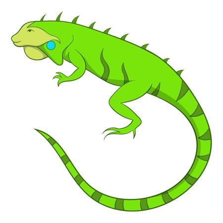 Iguana icon. Cartoon illustration of iguana vector icon for web Illustration