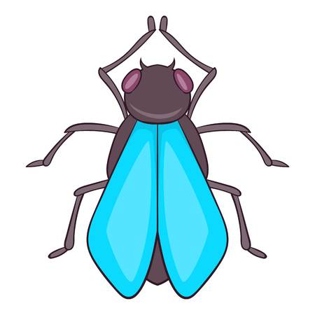 musca: Fly icon. Cartoon illustration of fly vector icon for web