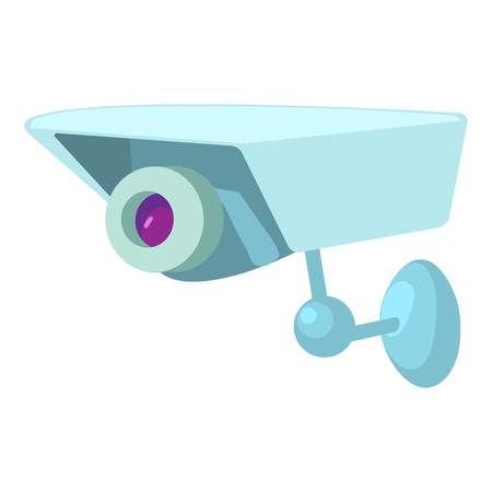 Security camera icon. Cartoon illustration of security camera vector icon for web Illustration