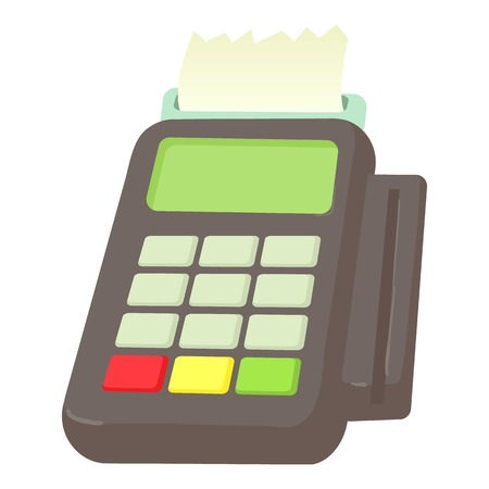 Card reader icon. Cartoon illustration of card reader vector icon for web