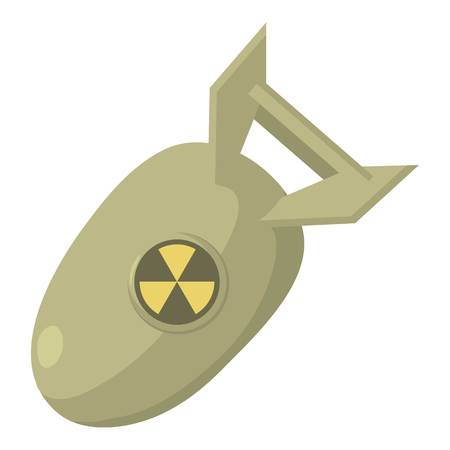 atomic: Atomic bomb icon. Cartoon illustration of atomic bomb vector icon for web