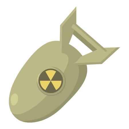 bombe atomique: Atomique icône bombe. Cartoon illustration atomique icône bombe vecteur web