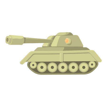 top gun: Tank icon. Cartoon illustration of tank vector icon for web