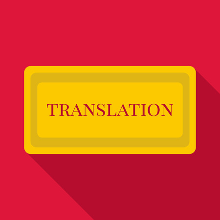 pronunciation in letters: Translation icon. Flat illustration of translation vector icon for web Illustration
