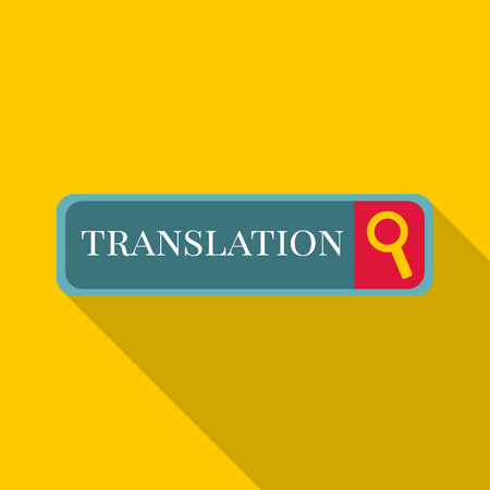 pronunciation in letters: Internet translation icon. Flat illustration of Internet translation vector icon for web