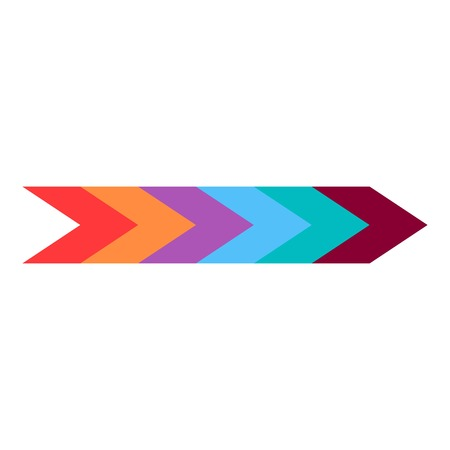 pointed arrows: Colorful arrow icon. Flat illustration of colorful arrow vector icon for web
