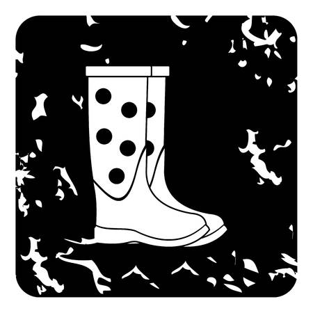 rubber boots: Rubber boots icon. Grunge illustration of rubber boots vector icon for web Illustration