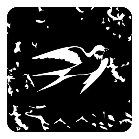 may fly: Swallow icon. Grunge illustration of swallow vector icon for web