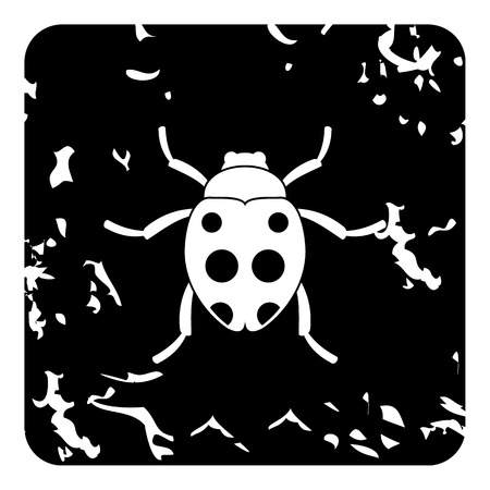 unhygienic: Bug icon. Grunge illustration of bug vector icon for web