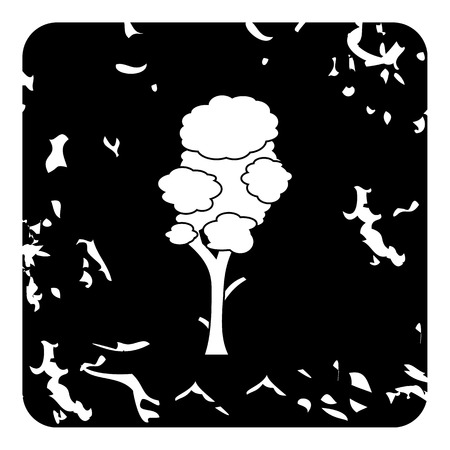 leafage: High tree icon. Grunge illustration of high tree vector icon for web