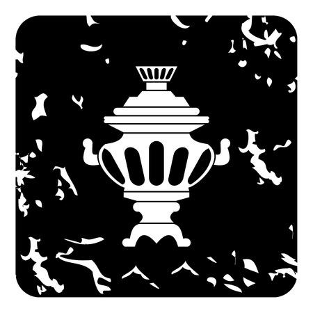 samovar: Russian tea samovar icon. Grunge illustration of russian tea samovar vector icon for web
