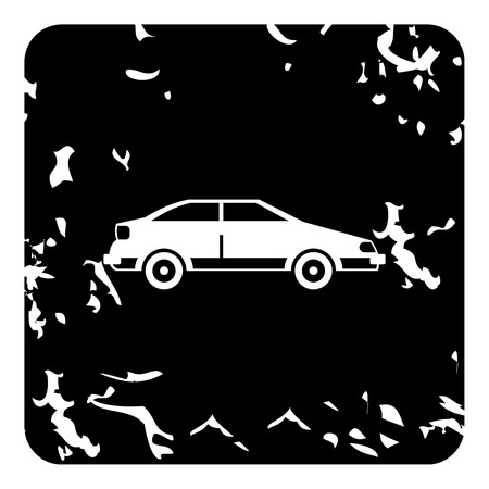 mechanical radiator: Car icon. Grunge illustration of car vector icon for web