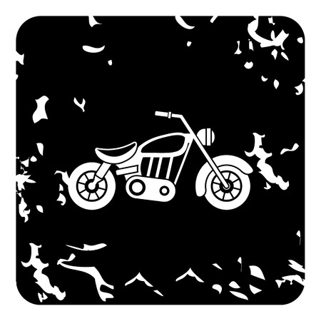 Motorcycle icon. Grunge illustration of motorcycle vector icon for web