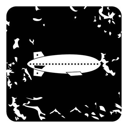 dirigible: Dirigible airship icon. Grunge illustration of dirigible airship vector icon for web Illustration