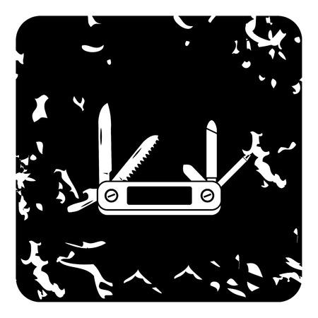 fiambres: icono navaja de bolsillo. Grunge ilustración de la navaja de iconos de vectores para la web