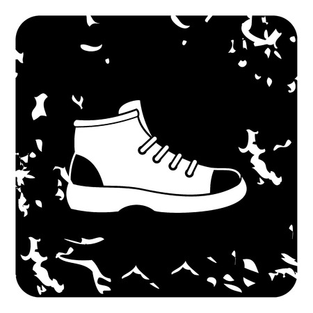 hiking boot: Hiking boot icon. Grunge illustration of hiking boot vector icon for web Illustration
