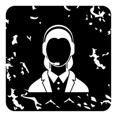dispatcher: Dispatcher icon. Grunge illustration of dispatcher vector icon for web