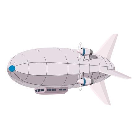 비행선 아이콘입니다. 웹 디자인을위한 비행선 벡터 아이콘의 만화 그림