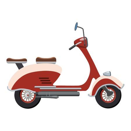 Scooter motorbike icon. Cartoon illustration of motorbike vector icon for web design Illustration