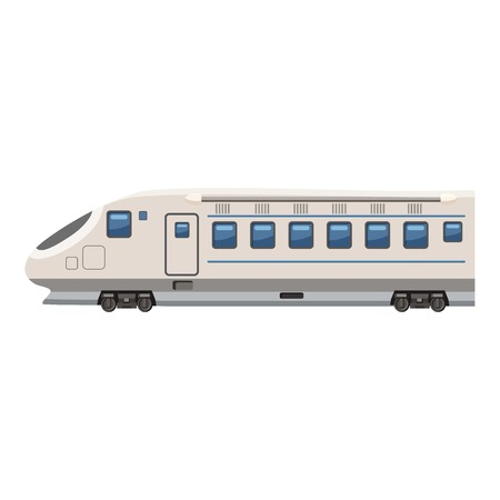 high speed: Modern high speed train icon. Cartoon illustration of high speed train vector icon for web design
