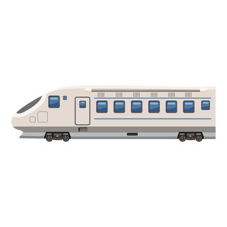 high speed train: Modern high speed train icon. Cartoon illustration of high speed train vector icon for web design