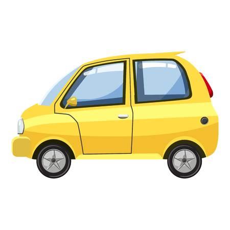 Car icon. Cartoon illustration of car vector icon for web design