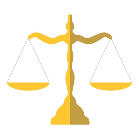 Scales of justice icon. Flat illustration of scales of justice vector icon for web design Illustration