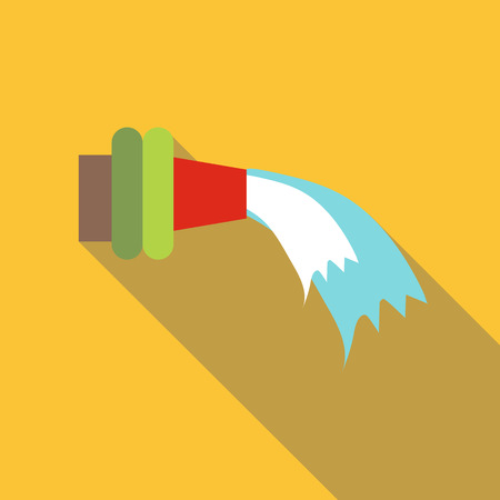 unfold: Fire hose icon. Flat illustration of fire hose vector icon for web design
