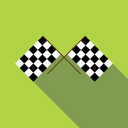 Racing flag icon. Flat illustration of racing flag vector icon for web design Illustration