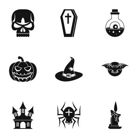 resurrection: Resurrection of dead icons set. Simple illustration of 9 resurrection of dead vector icons for web