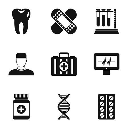 doctoral: Doctoral icons set. Simple illustration of 9 doctoral vector icons for web