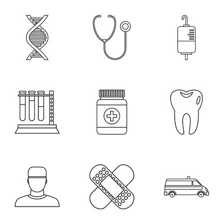 doctoral: Doctoral icons set. Outline illustration of 9 doctoral vector icons for web