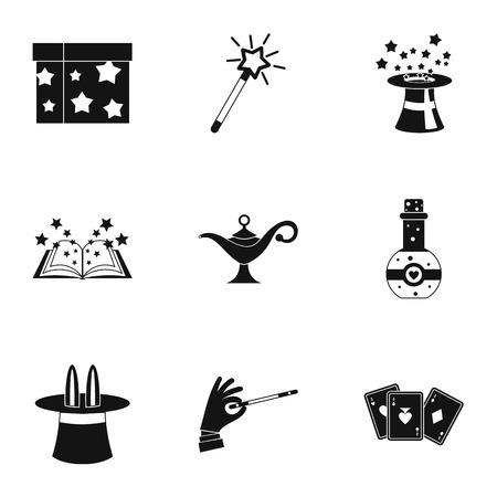 witchery: Witchery icons set. Simple illustration of 9 witchery vector icons for web