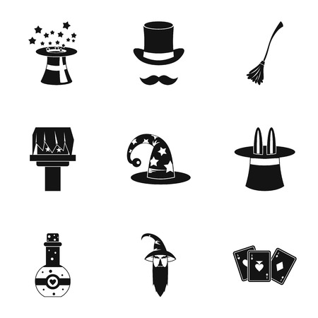 witchcraft: Witchcraft icons set. Simple illustration of 9 witchcraft vector icons for web Illustration