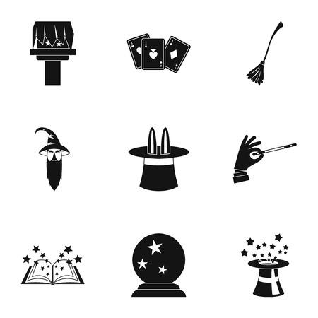 sorcery: Sorcery icons set. Simple illustration of 9 sorcery vector icons for web Illustration
