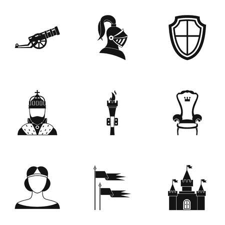 militant: Military armor icons set. Simple illustration of 9 military armor vector icons for web