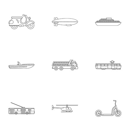 private parts: Movement icons set. Outline illustration of 9 movement vector icons for web Illustration