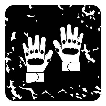 padding: Glove icon. Grunge illustration of glove vector icon for web
