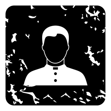 Priest icon. Grunge illustration of priest vector icon for web Illustration