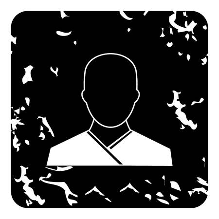 novice: Monk icon. Grunge illustration of monk vector icon for web Illustration