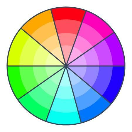 Color wheel with shades icon. Cartoon illustration of color wheel with shades vector icon for web design Illustration