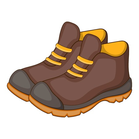 hiking boot: Hiking boots icon. Cartoon illustration of hiking boot vector icon for web design