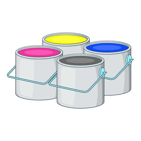 Printer ink icon. Cartoon illustration of printer ink vector icon for web design Illustration