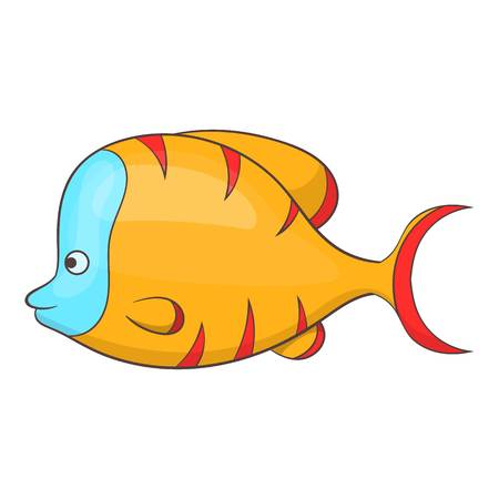 Orange fish icon. Cartoon illustration of orange fish vector icon for web Illustration