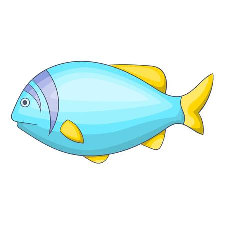 tang: Blue fish icon. Cartoon illustration of blue fish vector icon for web