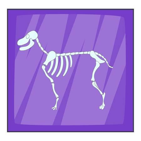 ulna: Dog skeleton icon. Cartoon illustration of dog skeleton vector icon for web