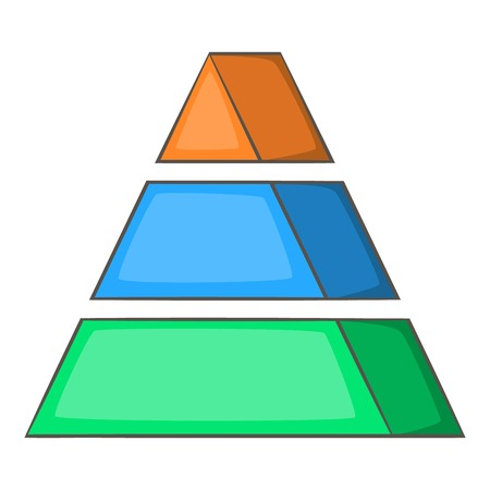 Stacked pyramid icon. Cartoon illustration of stacked pyramid vector icon for web Illustration